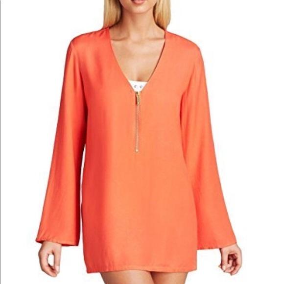 dcd6aa00c1870 Michael Kors Cover Up Tunic Coral Orange